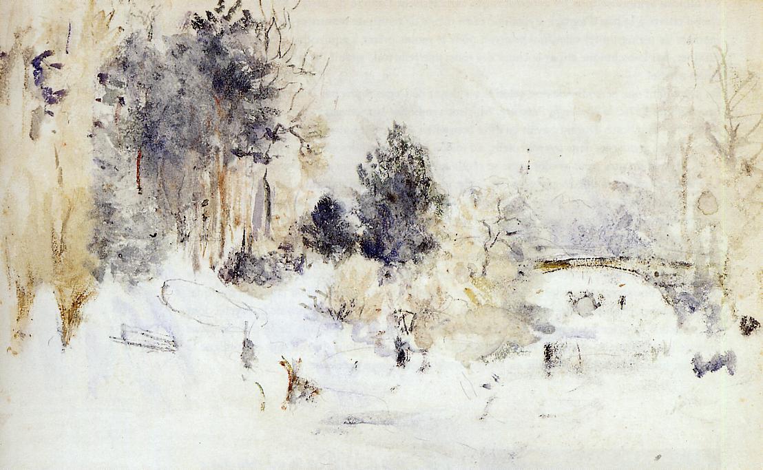 Skating 1893 Snowy Landscape (aka Frost) 1880 | Berthe Morisot | Oil Painting