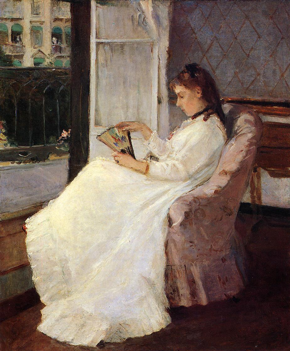 The Artist's Sister at a Window 1869 | Berthe Morisot | Oil Painting