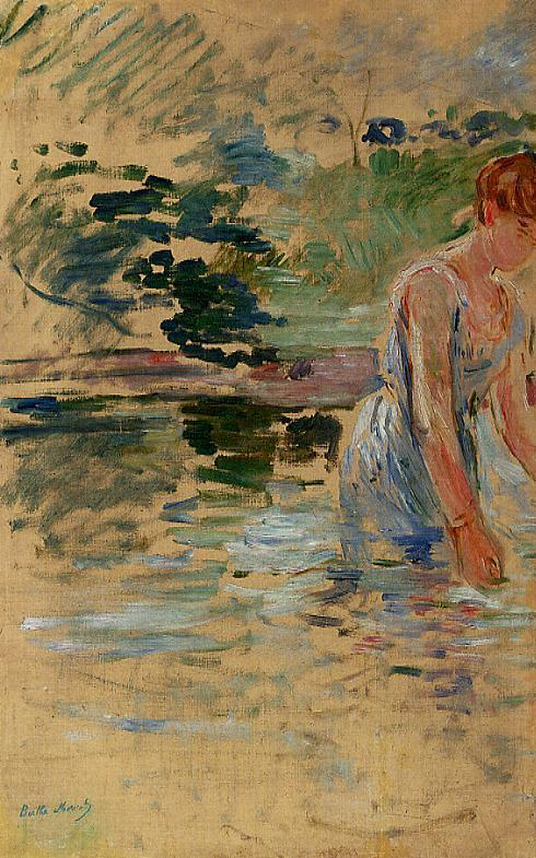 The Bath at Mesnil 1892 | Berthe Morisot | Oil Painting