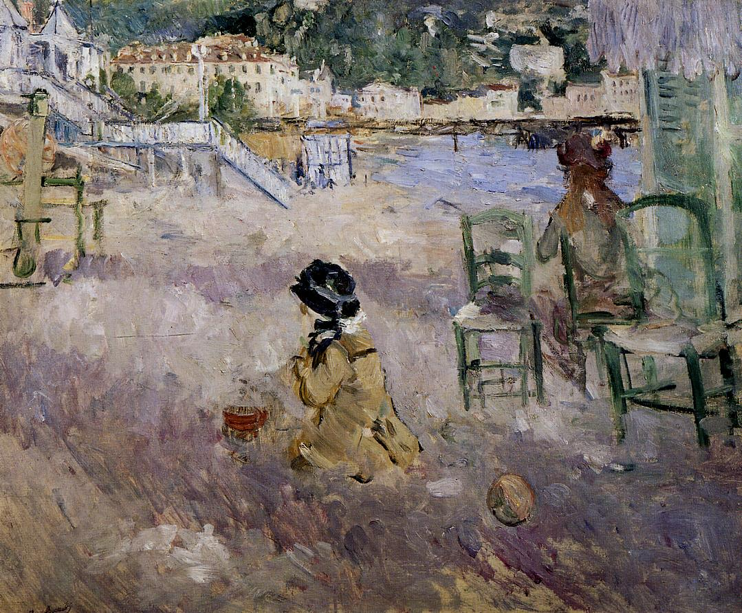 The Beach at Nice 1882 | Berthe Morisot | Oil Painting