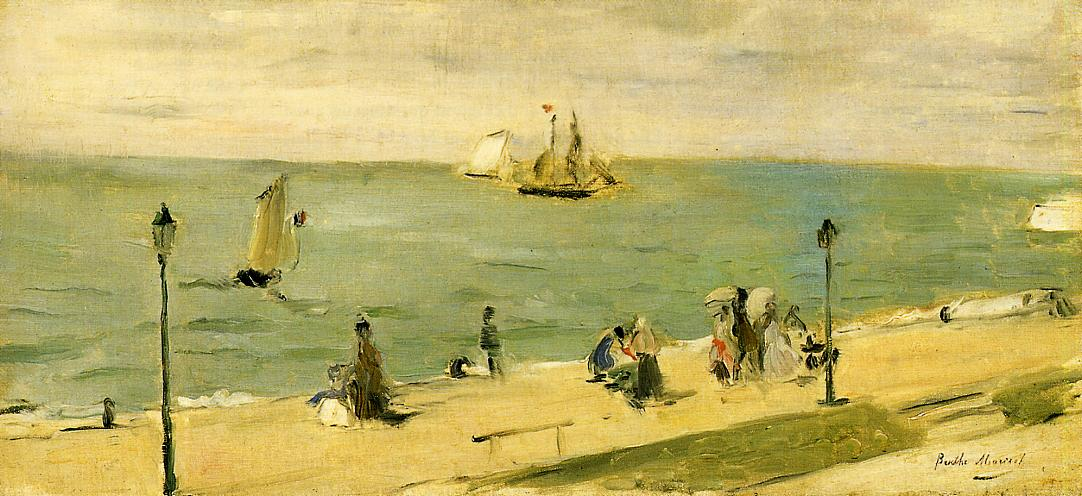 The Beach at Petit-Dalles (aka On the Beach) 1873 | Berthe Morisot | Oil Painting