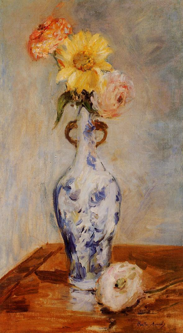The Blue Vase 1888 | Berthe Morisot | Oil Painting