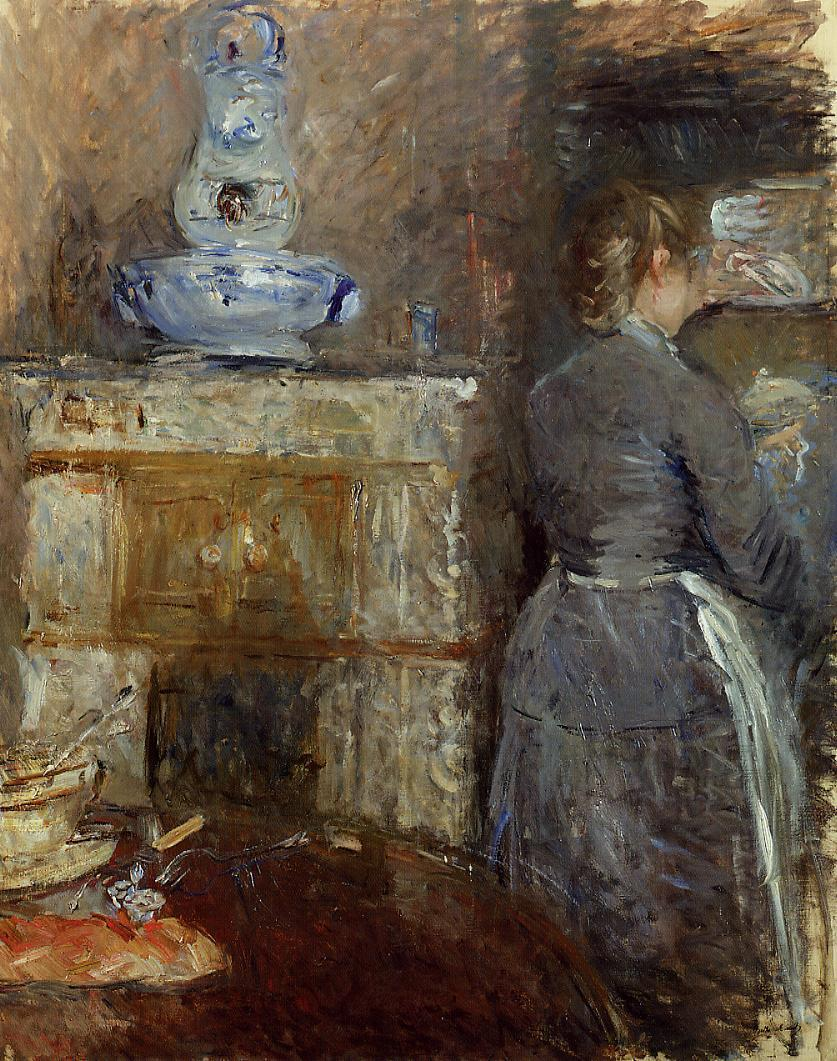 The Dining Room of the Rouart Family Avenue dEylau 1880 | Berthe Morisot | Oil Painting