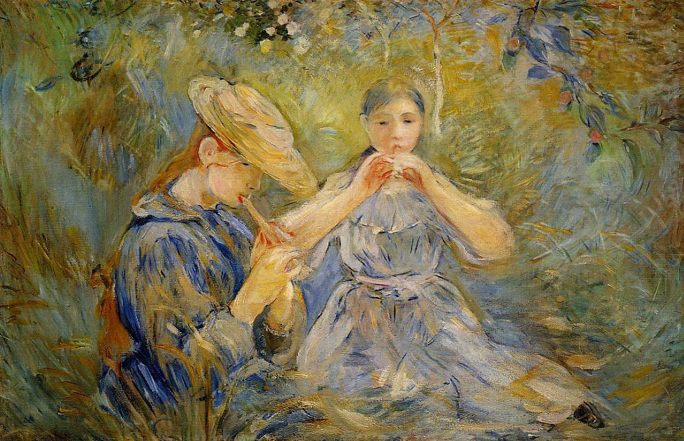 The Flageolet 1890 | Berthe Morisot | Oil Painting