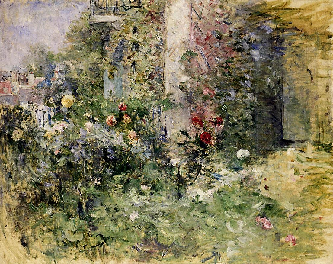 The Garden at Bougival 1884 | Berthe Morisot | Oil Painting