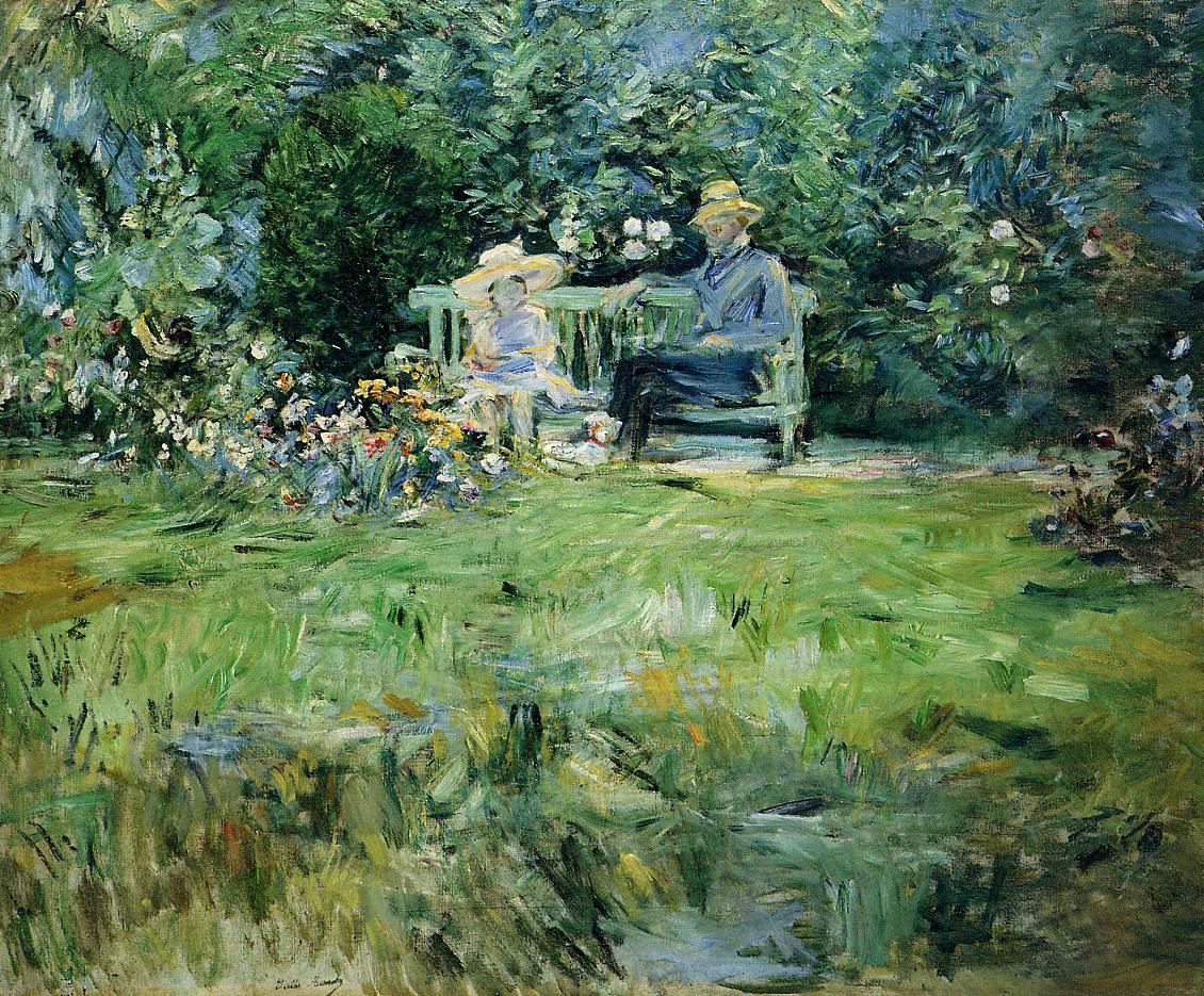 The Lesson in the Garden 1886 | Berthe Morisot | Oil Painting