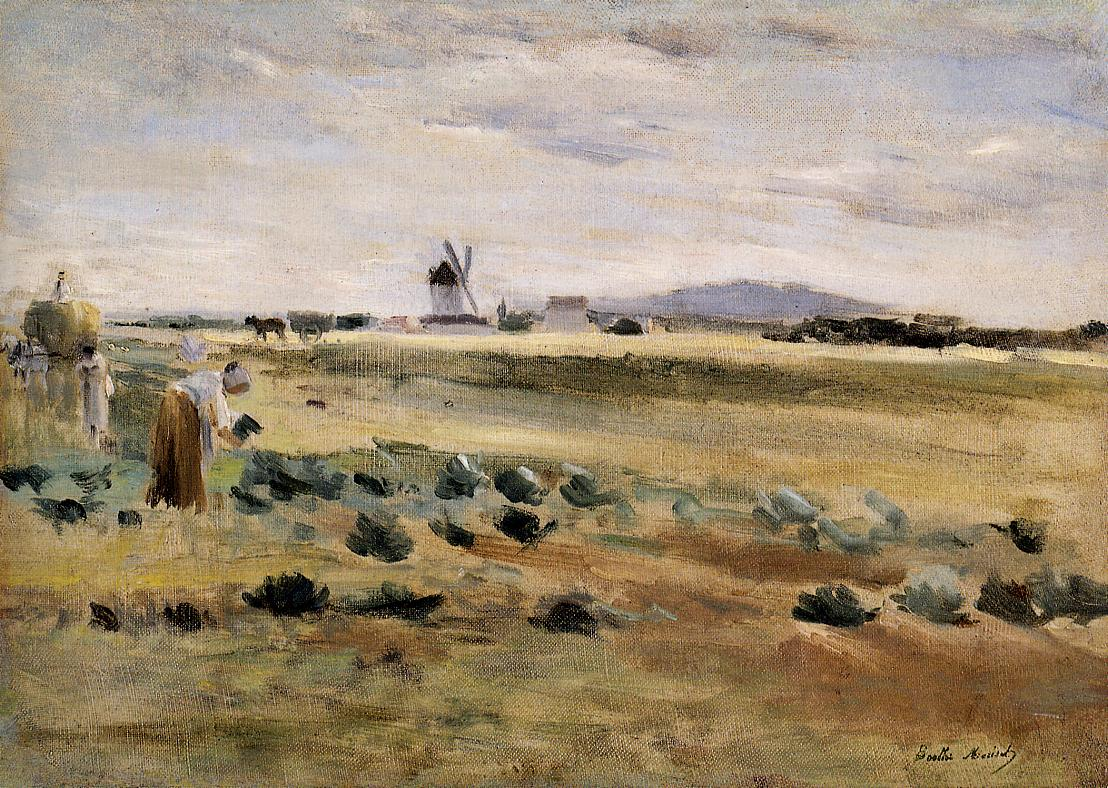 The Little Windmill at Gennevilliers 1875 | Berthe Morisot | Oil Painting