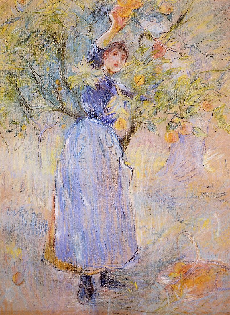 The Orange Picker1 1889 | Berthe Morisot | Oil Painting