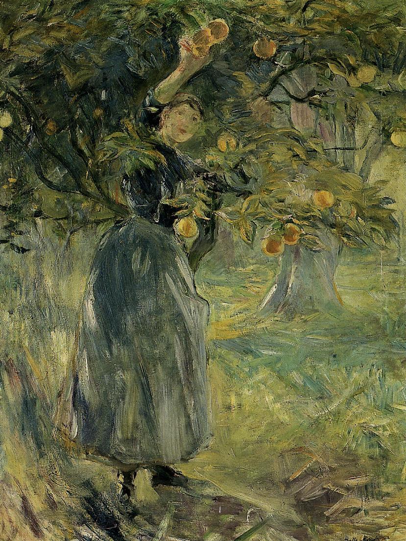 The Orange Picker2 1889 | Berthe Morisot | Oil Painting