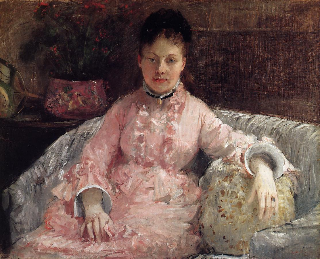 The Pink Dress 1870 | Berthe Morisot | Oil Painting