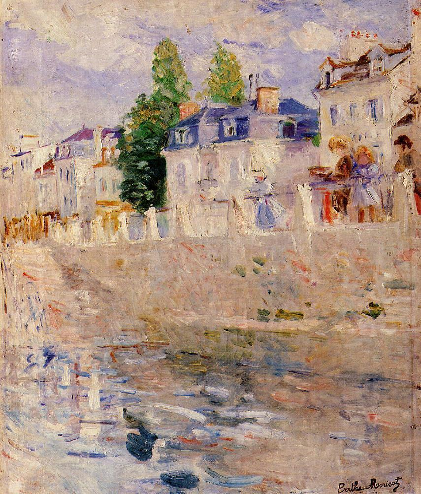 The Quay at Bougival 188 | Berthe Morisot | Oil Painting