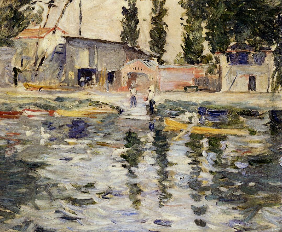 The Seine at Bougival 1884 | Berthe Morisot | Oil Painting