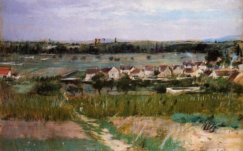 The Village of Maurencourt 1873 | Berthe Morisot | Oil Painting