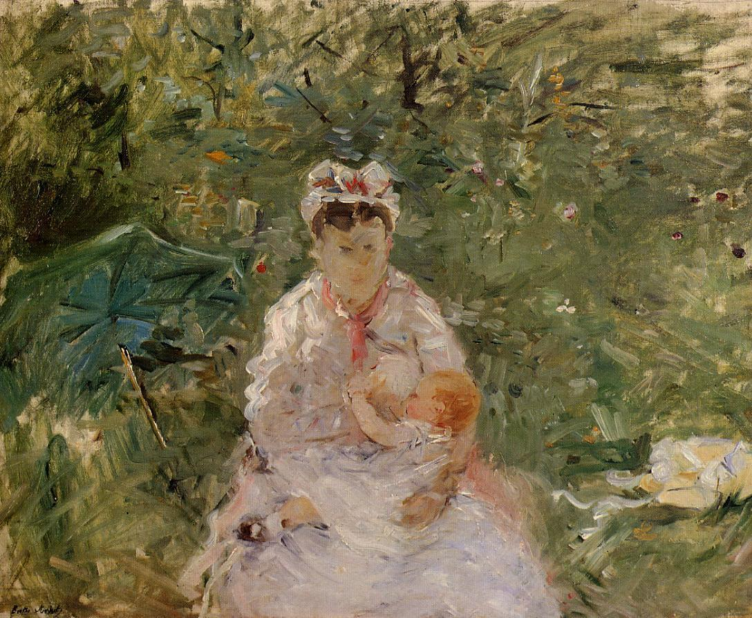 The Wet Nurse Angele Feeding Julie Manet 1880 | Berthe Morisot | Oil Painting