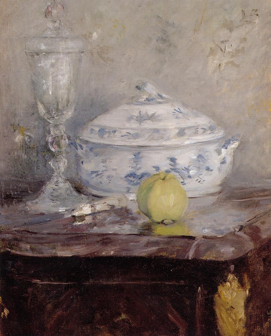Tureen and Apple 1877 | Berthe Morisot | Oil Painting