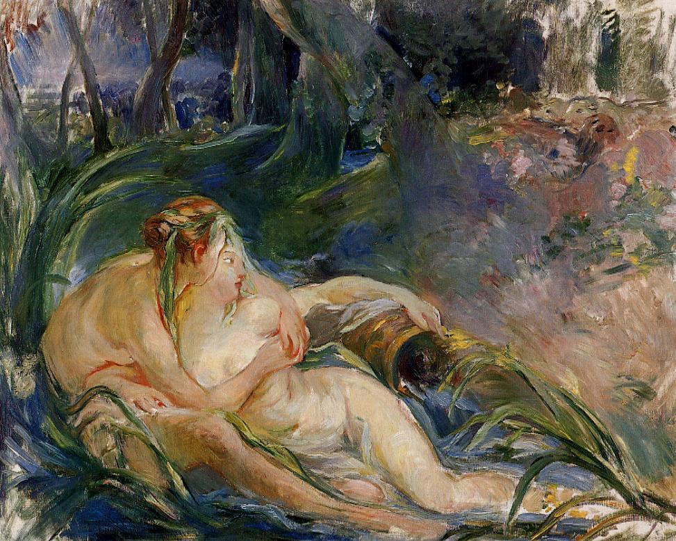 Two Nymphs Embracing 1892 | Berthe Morisot | Oil Painting