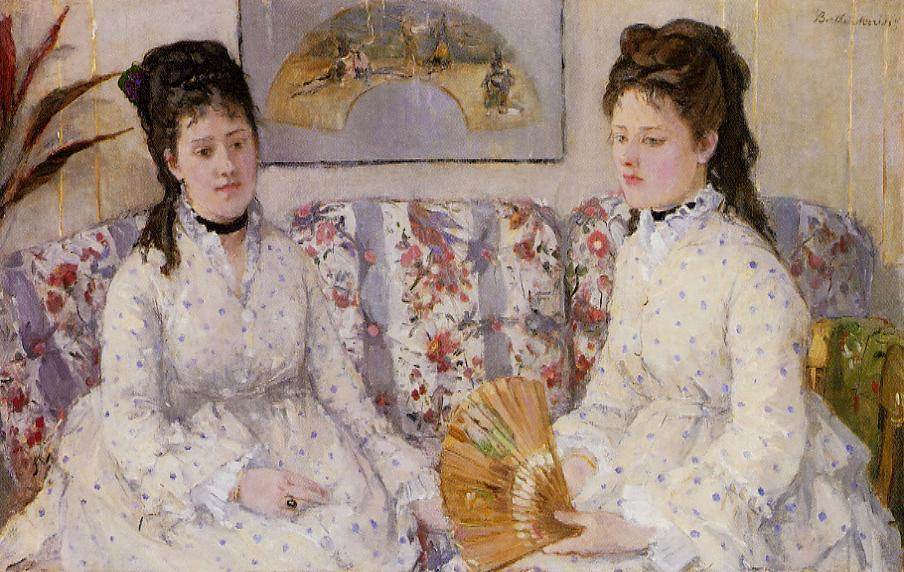 Two Sisters on a Couch 1869 | Berthe Morisot | Oil Painting