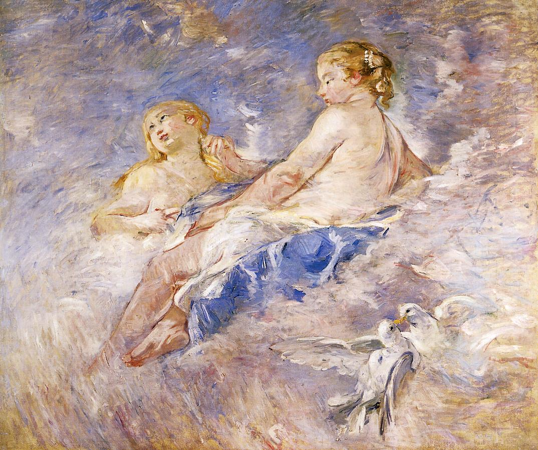Venus at the Forge of Vulcan (after Bucher) 1883-1884 | Berthe Morisot | Oil Painting
