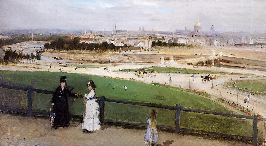 View of Paris from the Trocadero Heights 1872 | Berthe Morisot | Oil Painting