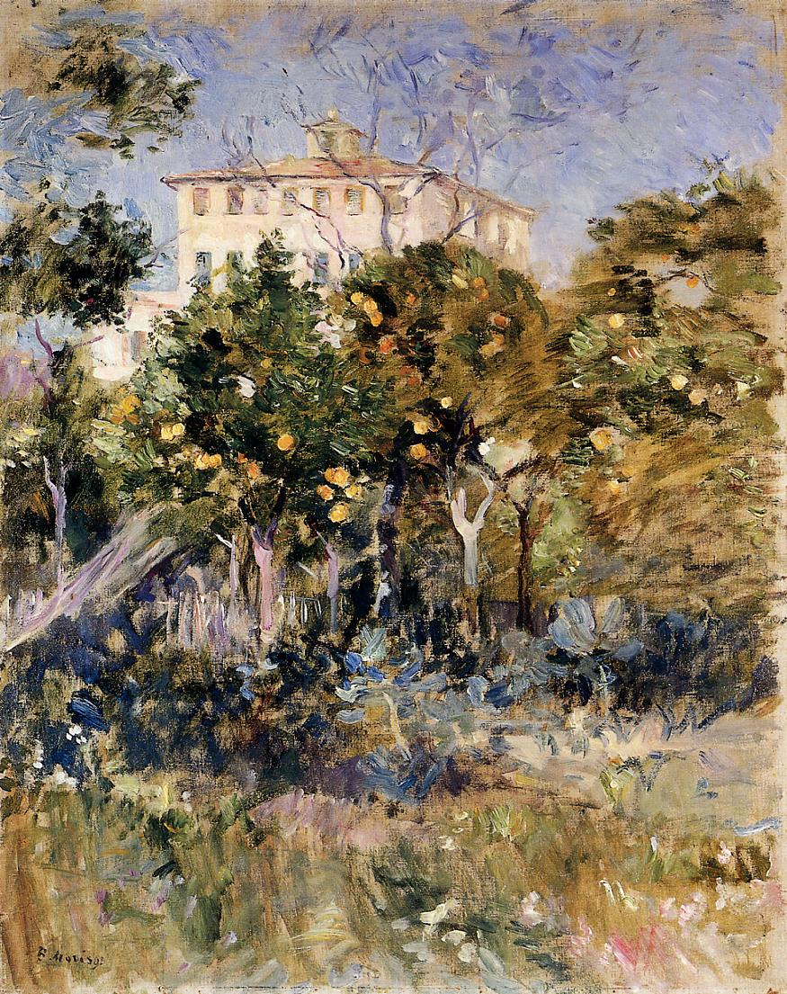 Villa with Orange Trees Nice 1882 | Berthe Morisot | Oil Painting