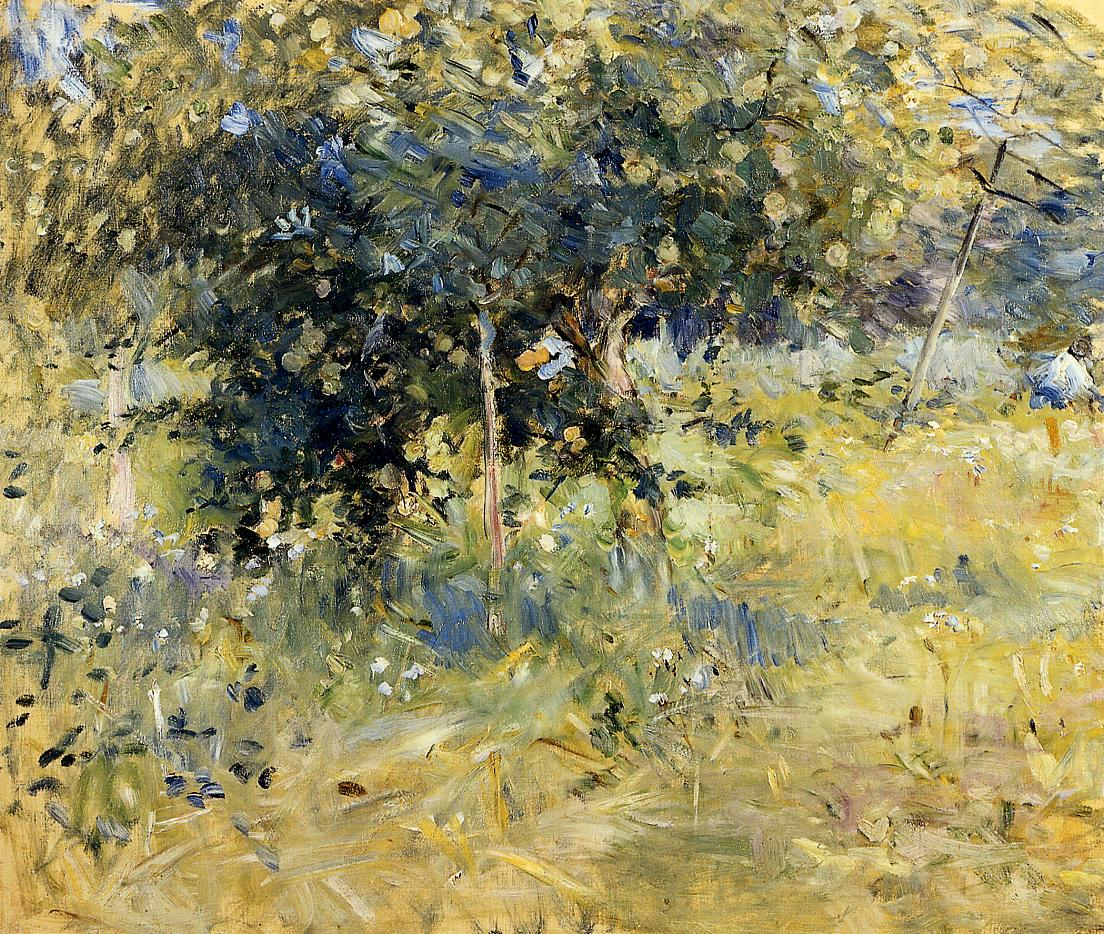Willows in the Garden at Bougival 1884 | Berthe Morisot | Oil Painting