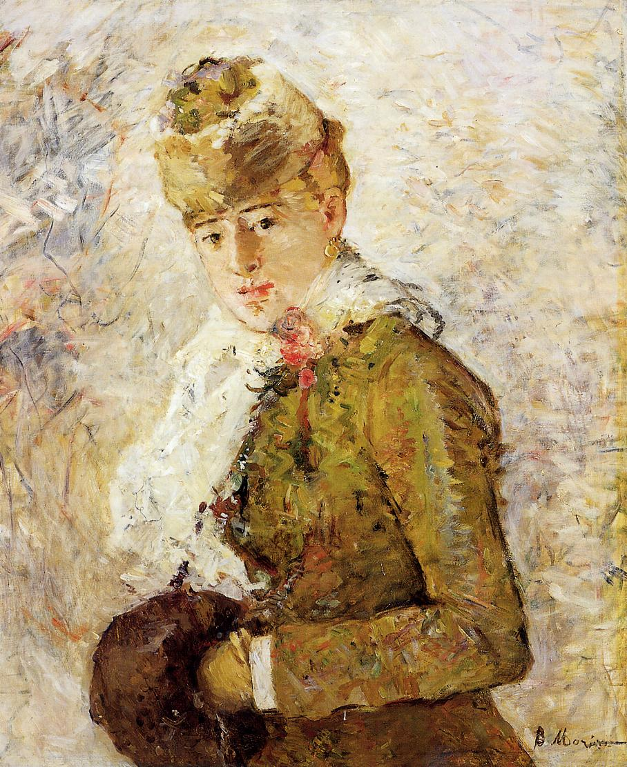 Winter (aka Woman with a Mujff) 1880 | Berthe Morisot | Oil Painting