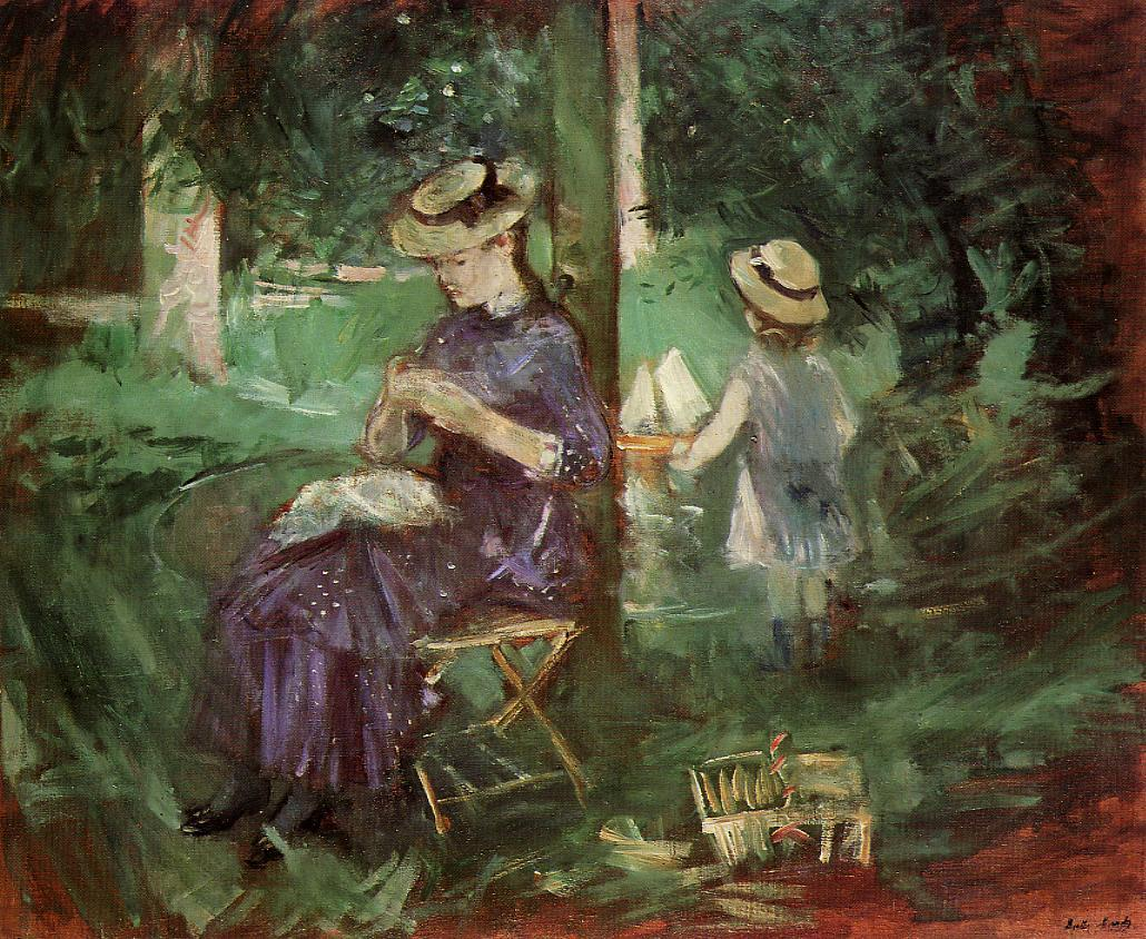Woman and Child in a Garden 1884 | Berthe Morisot | Oil Painting