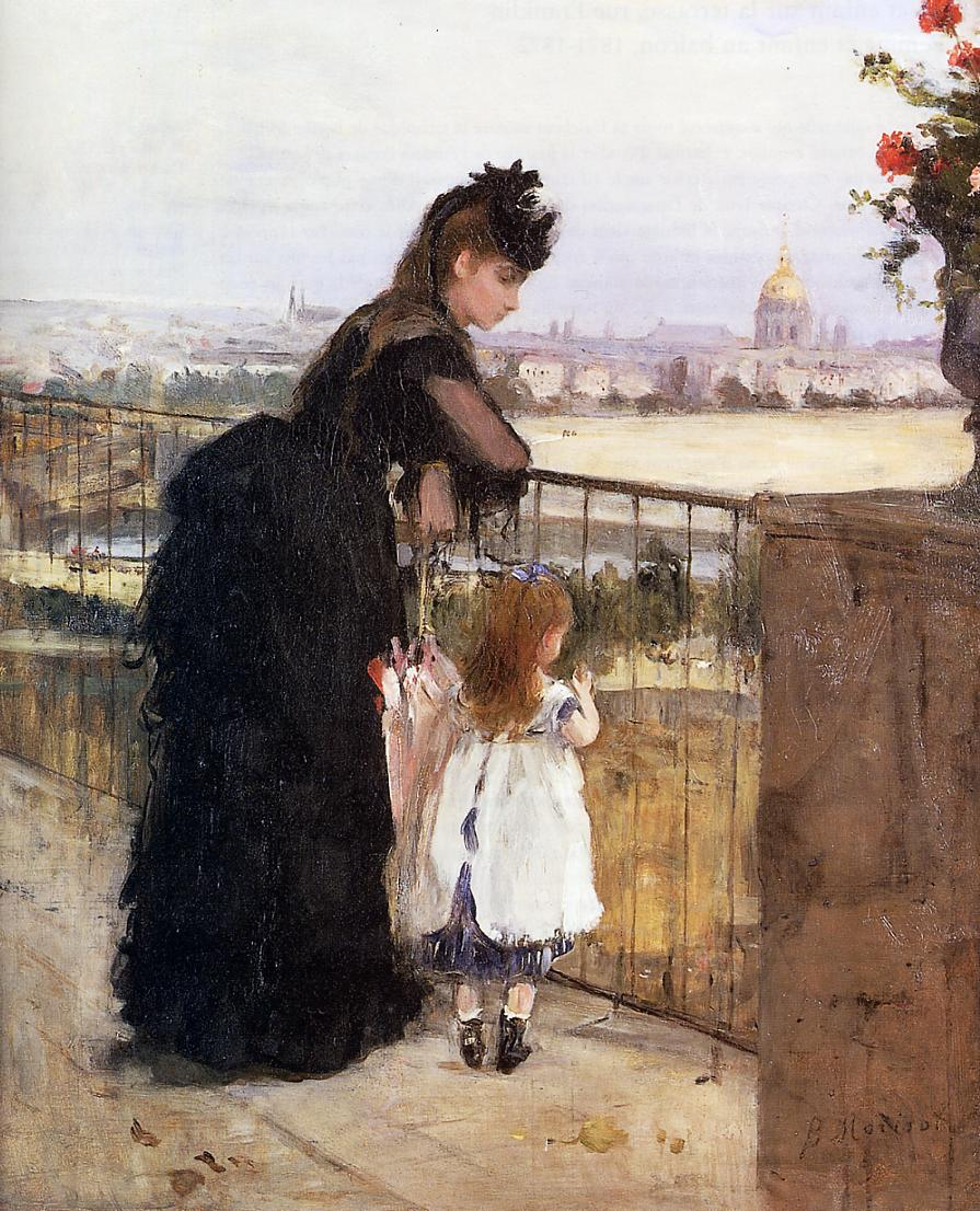 Woman and Child on a Balcony 1871-1872 | Berthe Morisot | Oil Painting