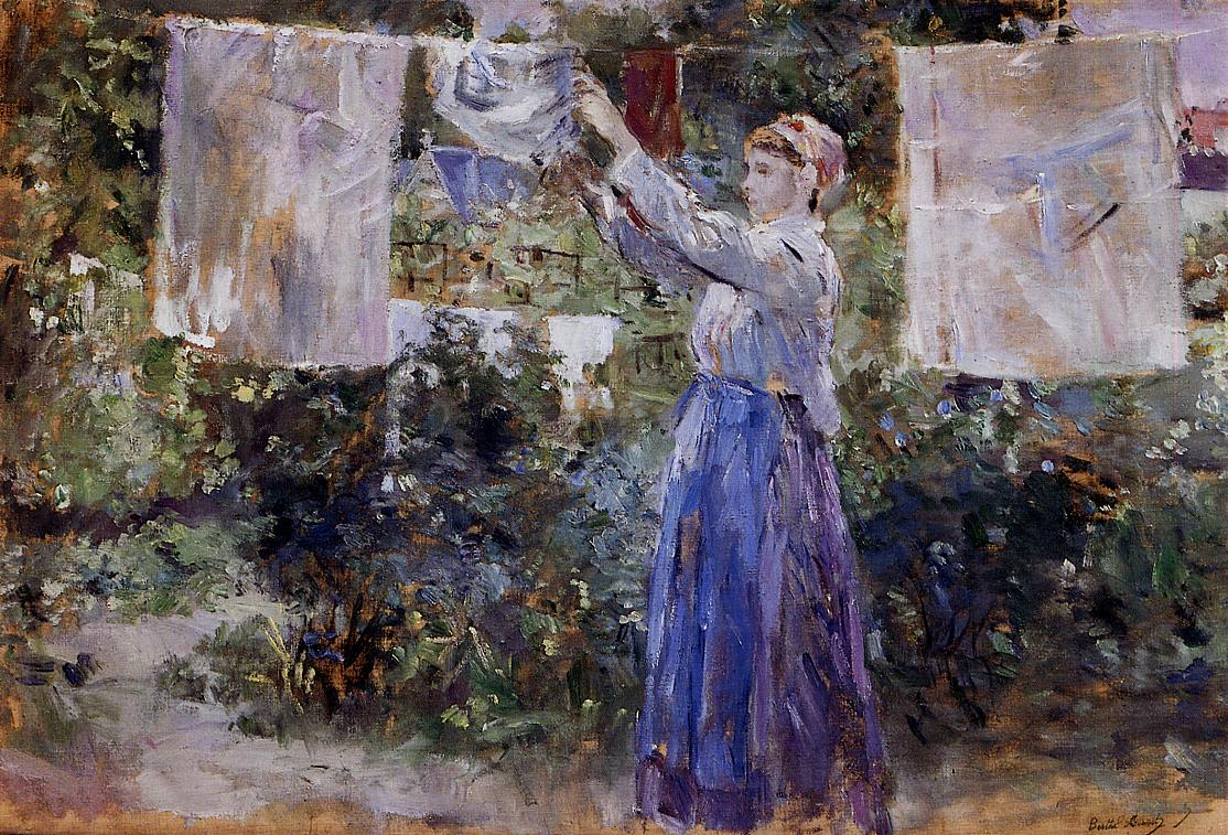 Woman Hanging out the Wash 1881 | Berthe Morisot | Oil Painting