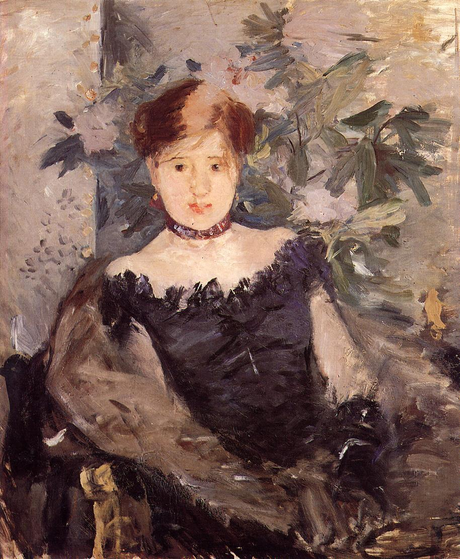 Woman in Black 1878 | Berthe Morisot | Oil Painting