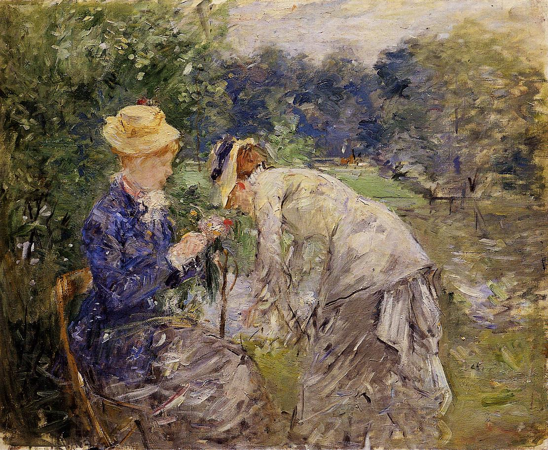 Woman Picking Flowers 1879 | Berthe Morisot | Oil Painting