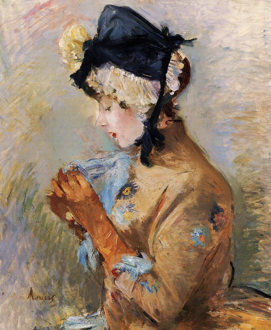 Woman Wearing Gloves (aka The Parisian) 1885 | Berthe Morisot | Oil Painting