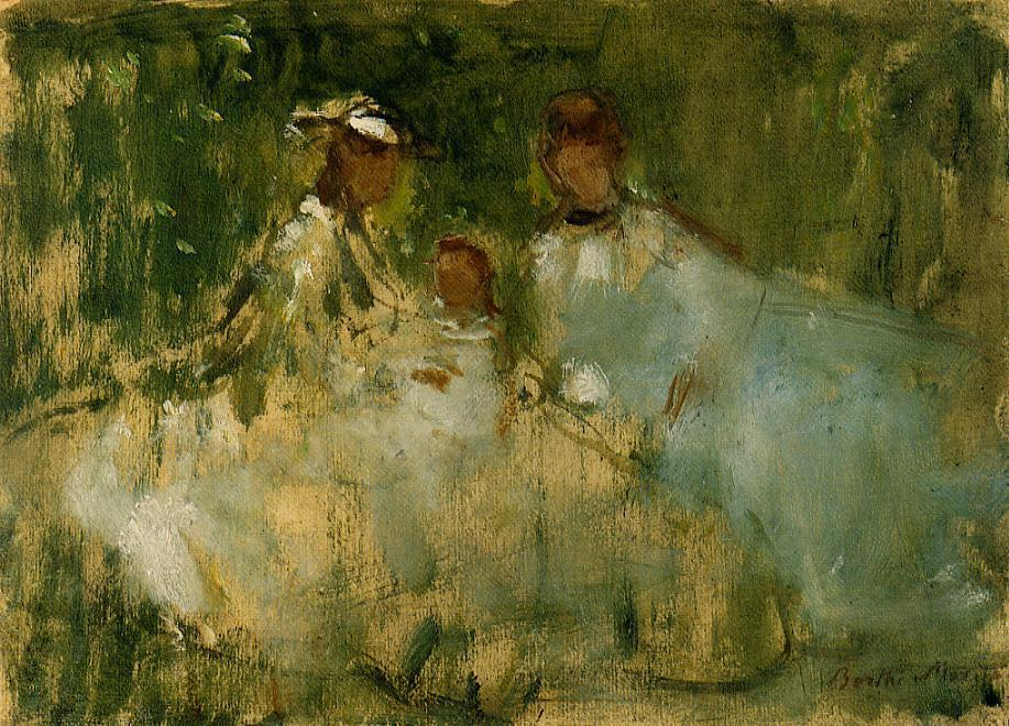 Women and Little Girls in a Natural Setting | Berthe Morisot | Oil Painting