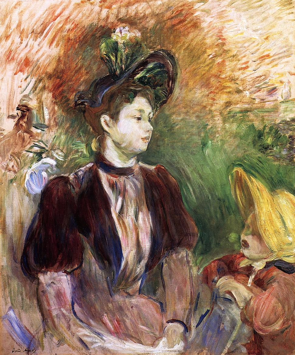 Young Woman and Child Avenue du Bois 1894 | Berthe Morisot | Oil Painting