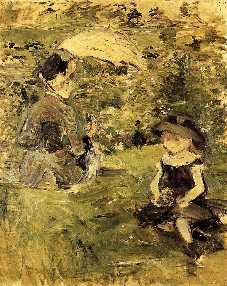 Young Woman and Child on an Isle 188 | Berthe Morisot | Oil Painting
