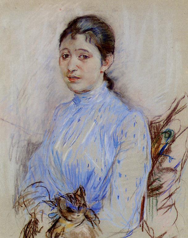 Young Woman in a Blue Blouse 1889 | Berthe Morisot | Oil Painting