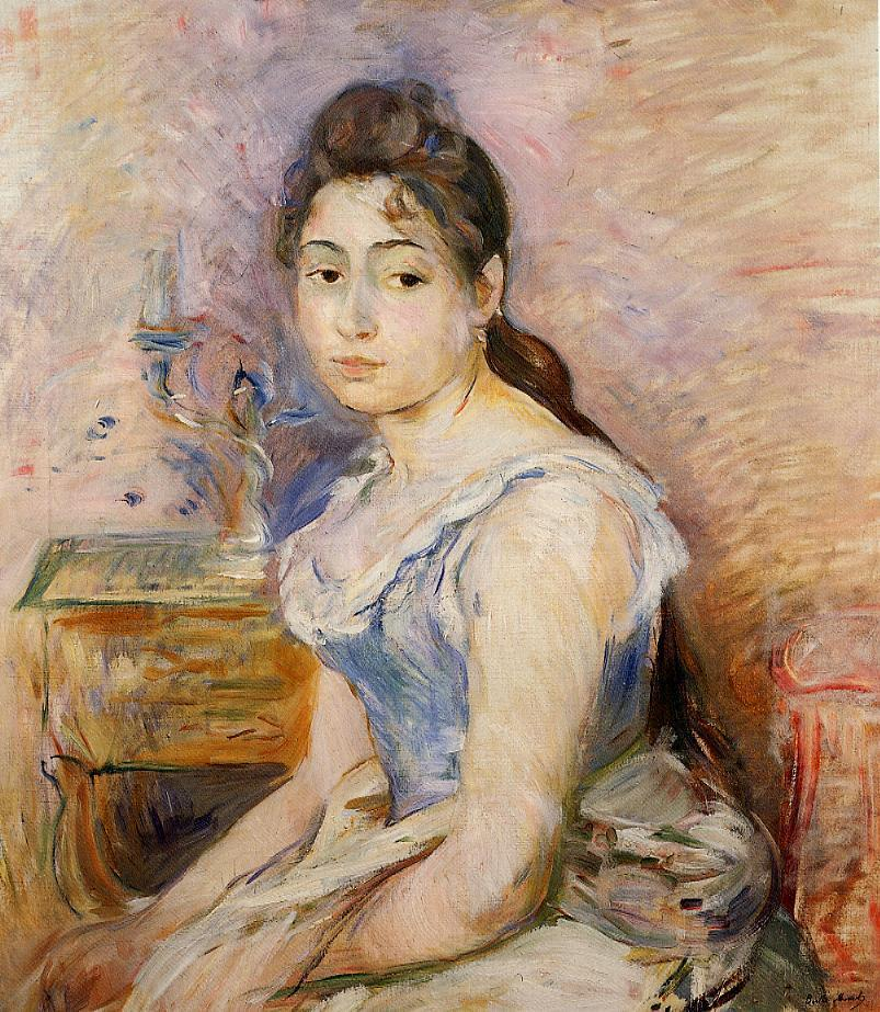 Young Woman in a Blue Blouse 1891 | Berthe Morisot | Oil Painting