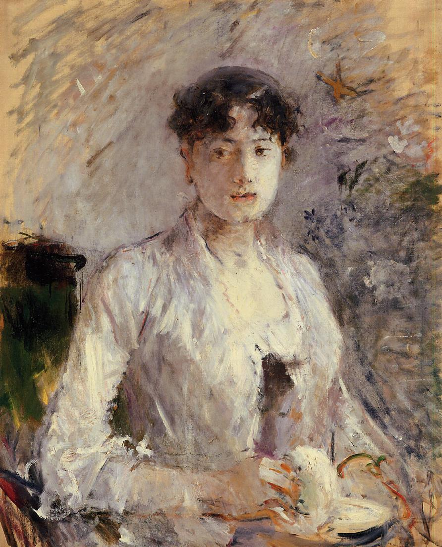 Young Woman in Mauve 1880 | Berthe Morisot | Oil Painting
