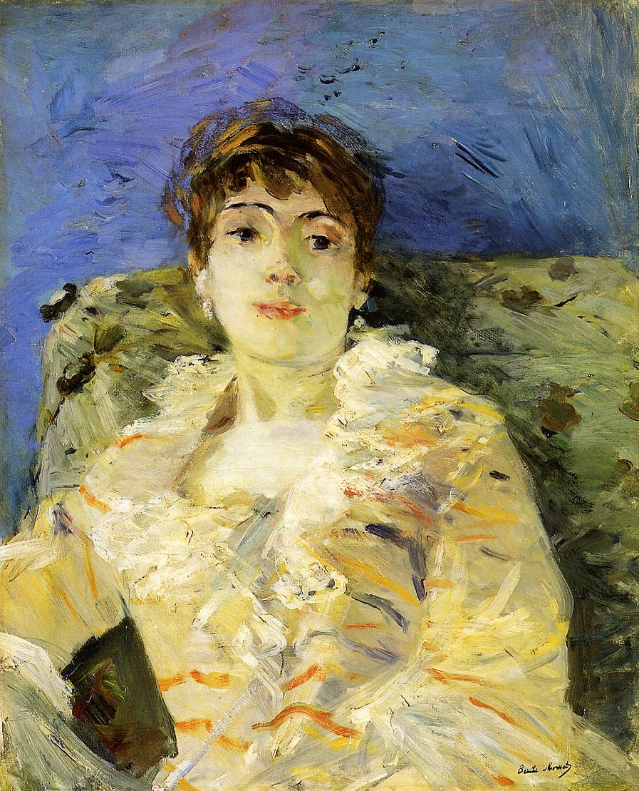 Young Woman on a Couch 1885 | Berthe Morisot | Oil Painting