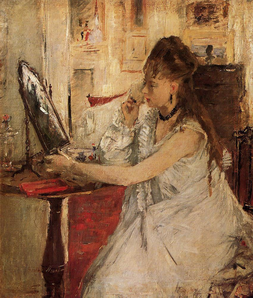 Young Woman Powdering Her Face 1877 | Berthe Morisot | Oil Painting