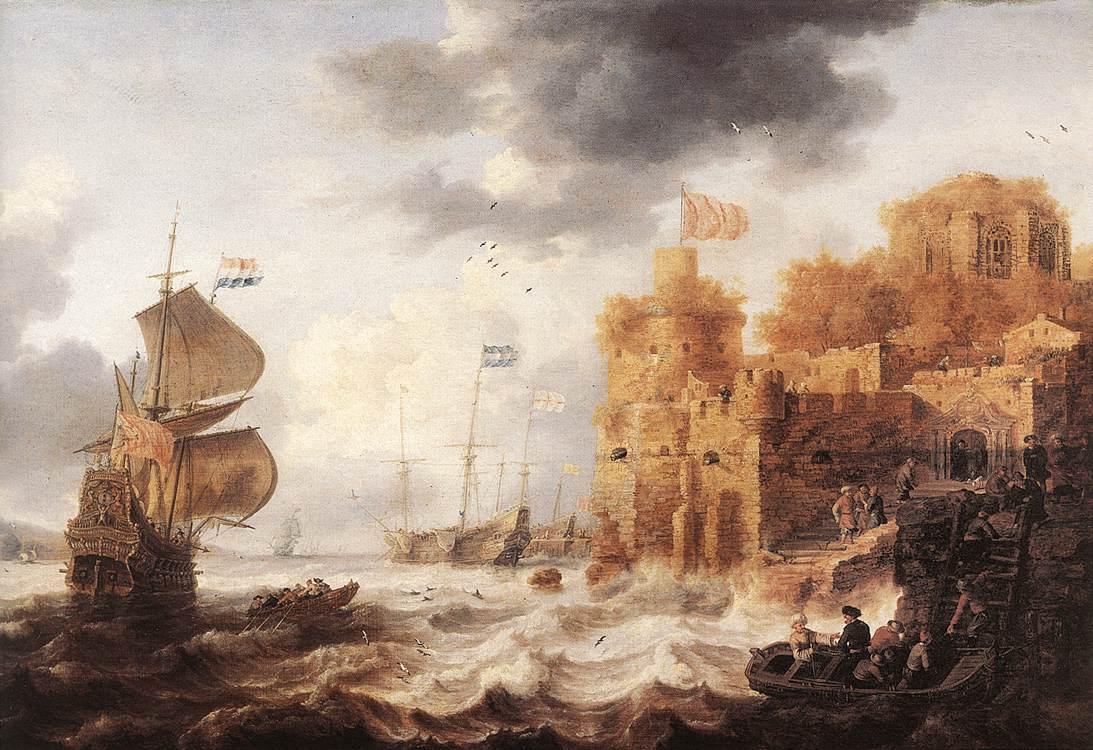 An Oriental Harbour 1650-52 | Bonaventura The Elder Peeters | Oil Painting