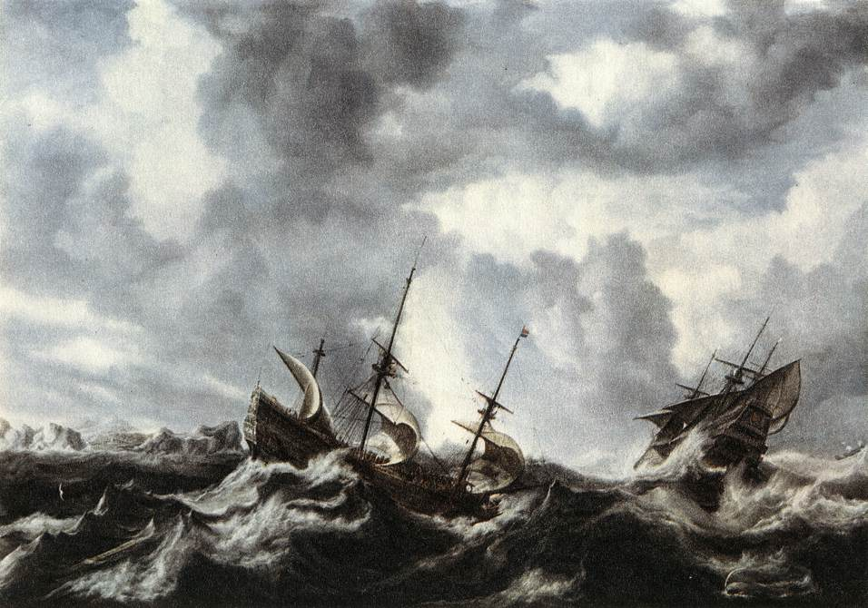 Storm On The Sea 1632 | Bonaventura The Elder Peeters | Oil Painting