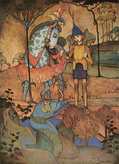 An Immense Dragon Lying by the Waterside 1918 | Jean de Bosschere | Oil Painting
