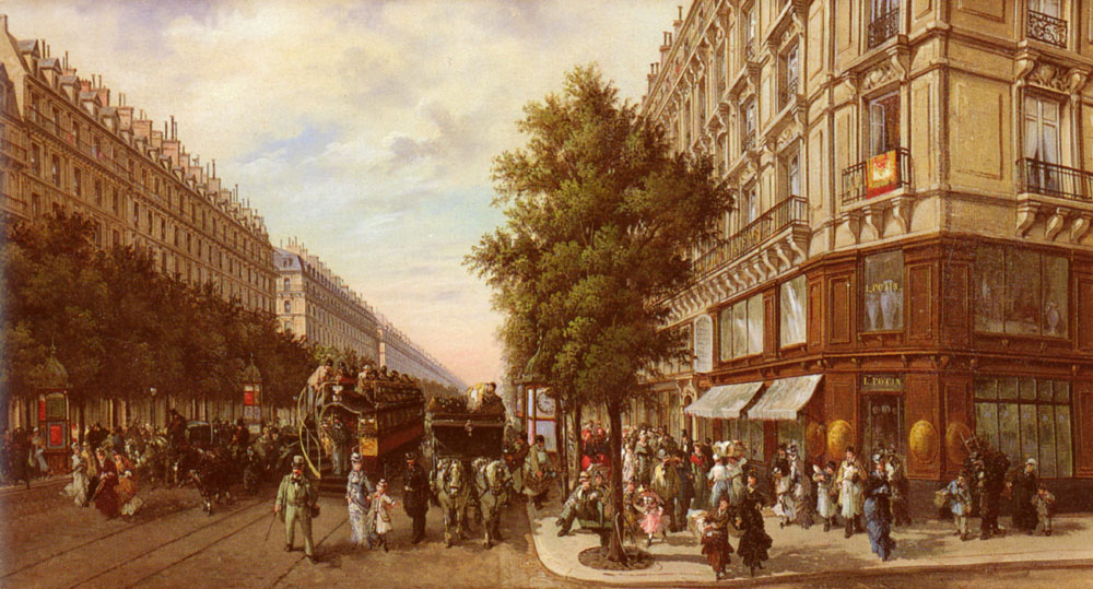 Boulevard Des Italiens | B Pafset | Oil Painting
