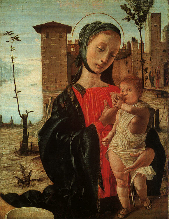 Madonna Del Latte 1490 | Bramantino | Oil Painting