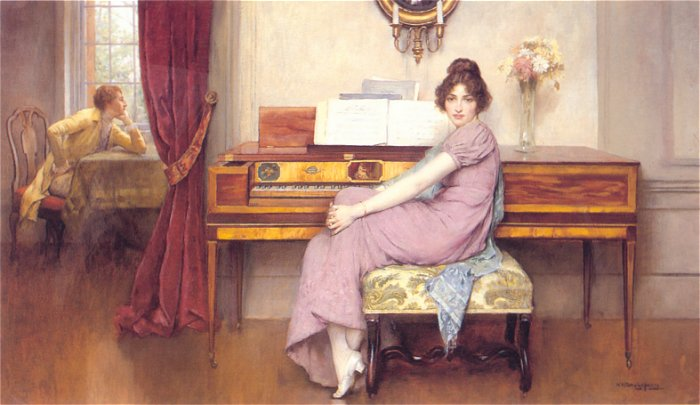 The Reluctant Pianist | Breakspeare-William | Oil Painting