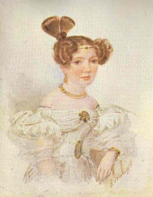 Portrait Of A Young Woman In White | Brulloff-Alexander | Oil Painting
