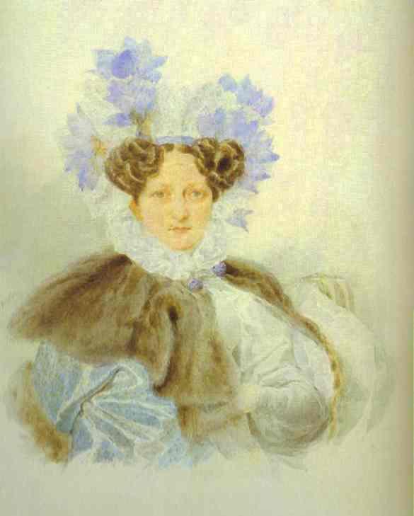 Portrait Of C I Zagriazhskaya 1820s | Brulloff-Alexander | Oil Painting