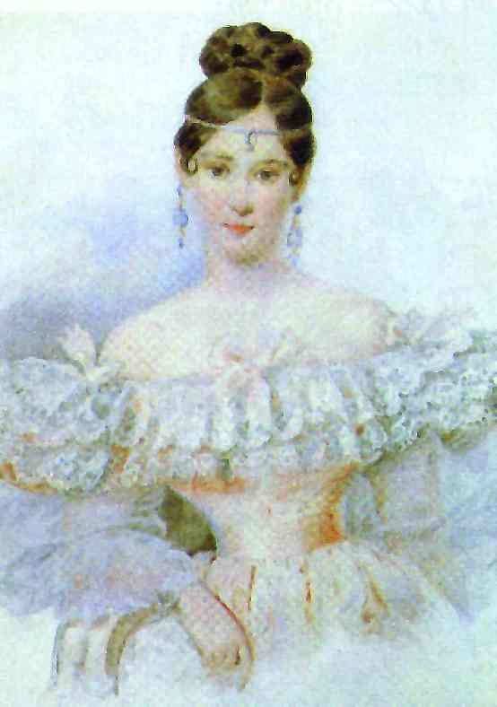 Portrait Of N N Pushkina 1831 | Brulloff-Alexander | Oil Painting