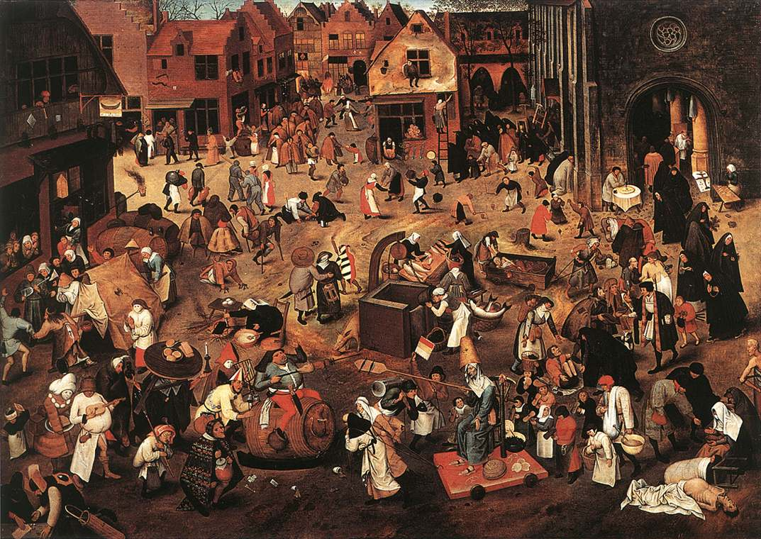 Battle Of Carnival And Lent | Brulloff-Alexander | Oil Painting